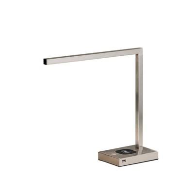 "16"" Aidan Adessocharge Desk Lamp (Includes LED Light Bulb) Medium Silver - Adesso"