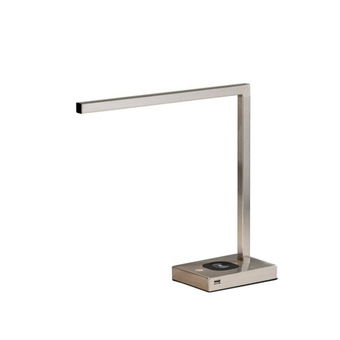 Aidan Adessocharge LED Desk Lamp Medium Silver (Includes Energy Efficient Light Bulb) - Adesso - image 1 of 3