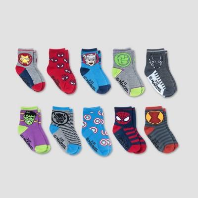Baby 10pk Marvel Ankle Socks