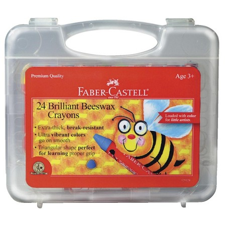 Faber-Castell Jumbo Triangular Beeswax Crayon, Assorted Colors, set of 24 - image 1 of 1