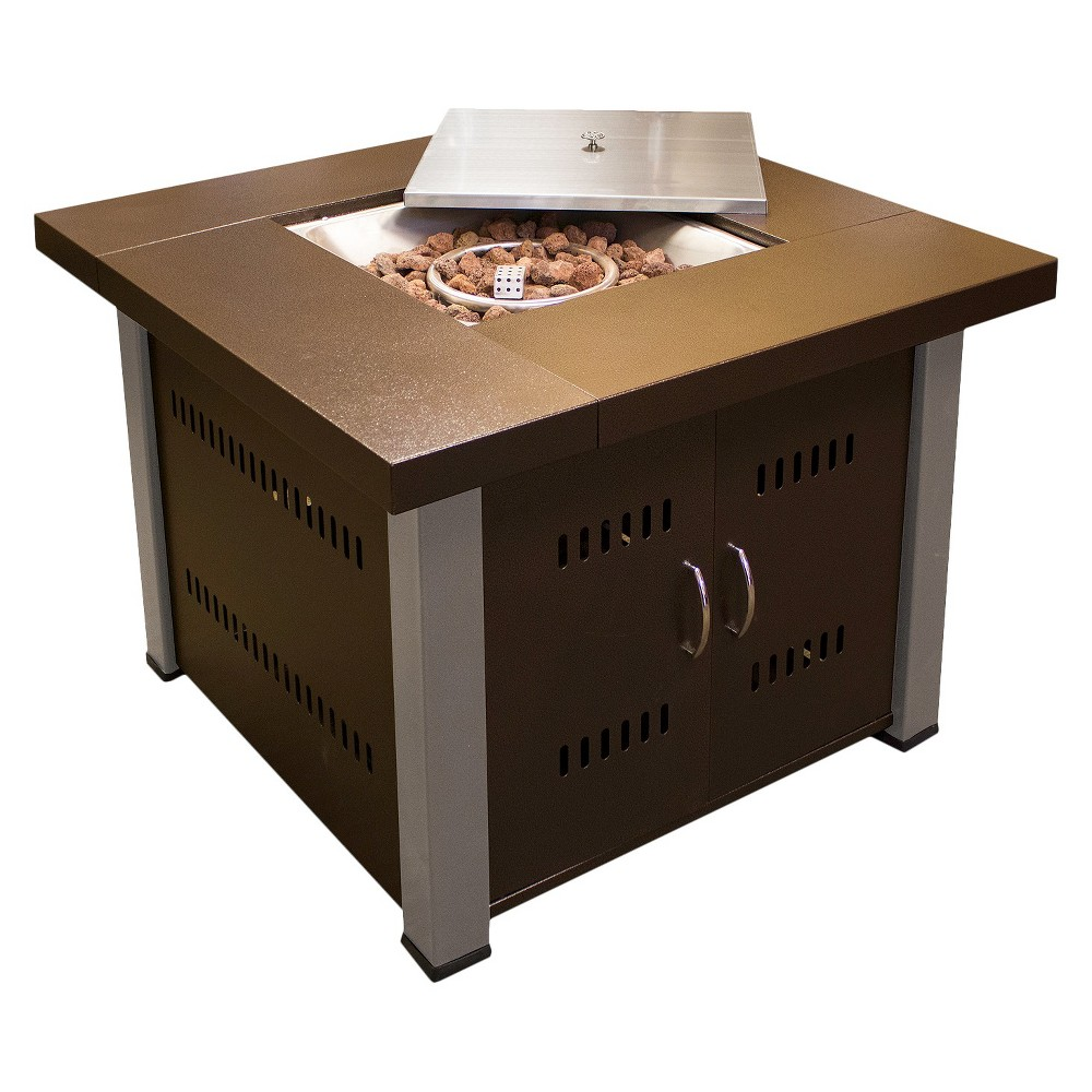 Image of Antique Bronze/Stainless Steel (Antique Bronze/Silver) Propane Fire Pit