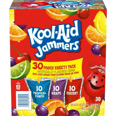 Kool-Aid Jammers Variety Pack - 30pk/6 fl oz Pouches