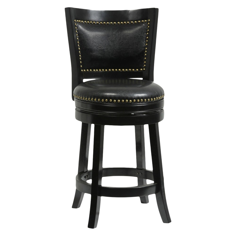 "Image of ""24"""" Bristol Swivel Counter Stool Black - Boraam"""
