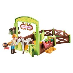 Playmobil Abagail and Boomerang with Horse Stall - Spirit Riding Free