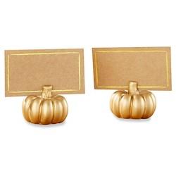 12ct Pumpkin Place Card Holder Gold