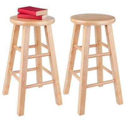 'Winsome Wood 29'' Barstool - Natural (Set of 2), White'