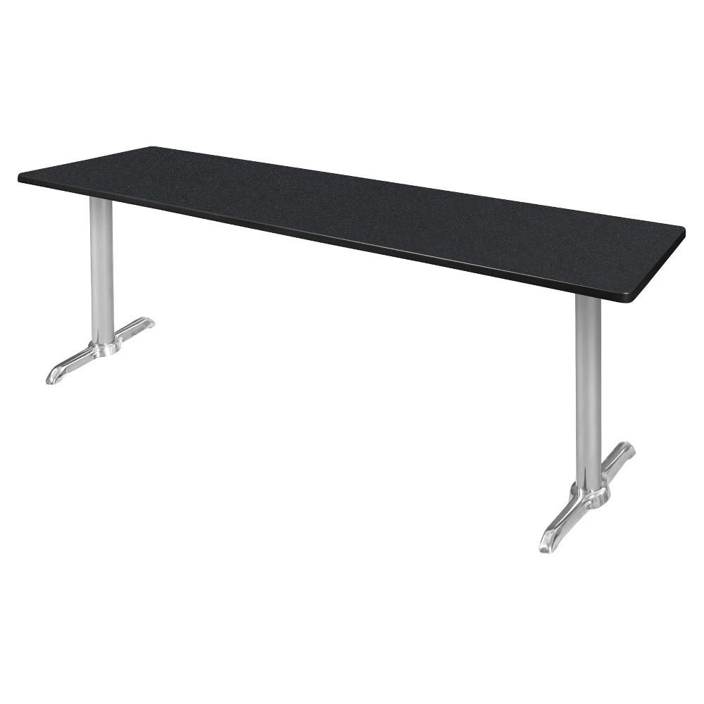 84 Via Training Table Carbon/Chrome (Black/Grey) - Regency