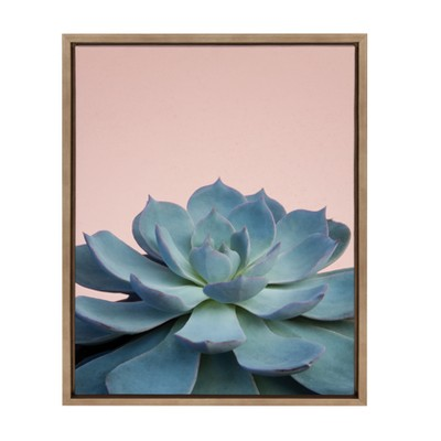 "18"" x 24"" Sylvie Succulent 10 Framed Canvas by F2 Images Gold - Kate and Laurel"