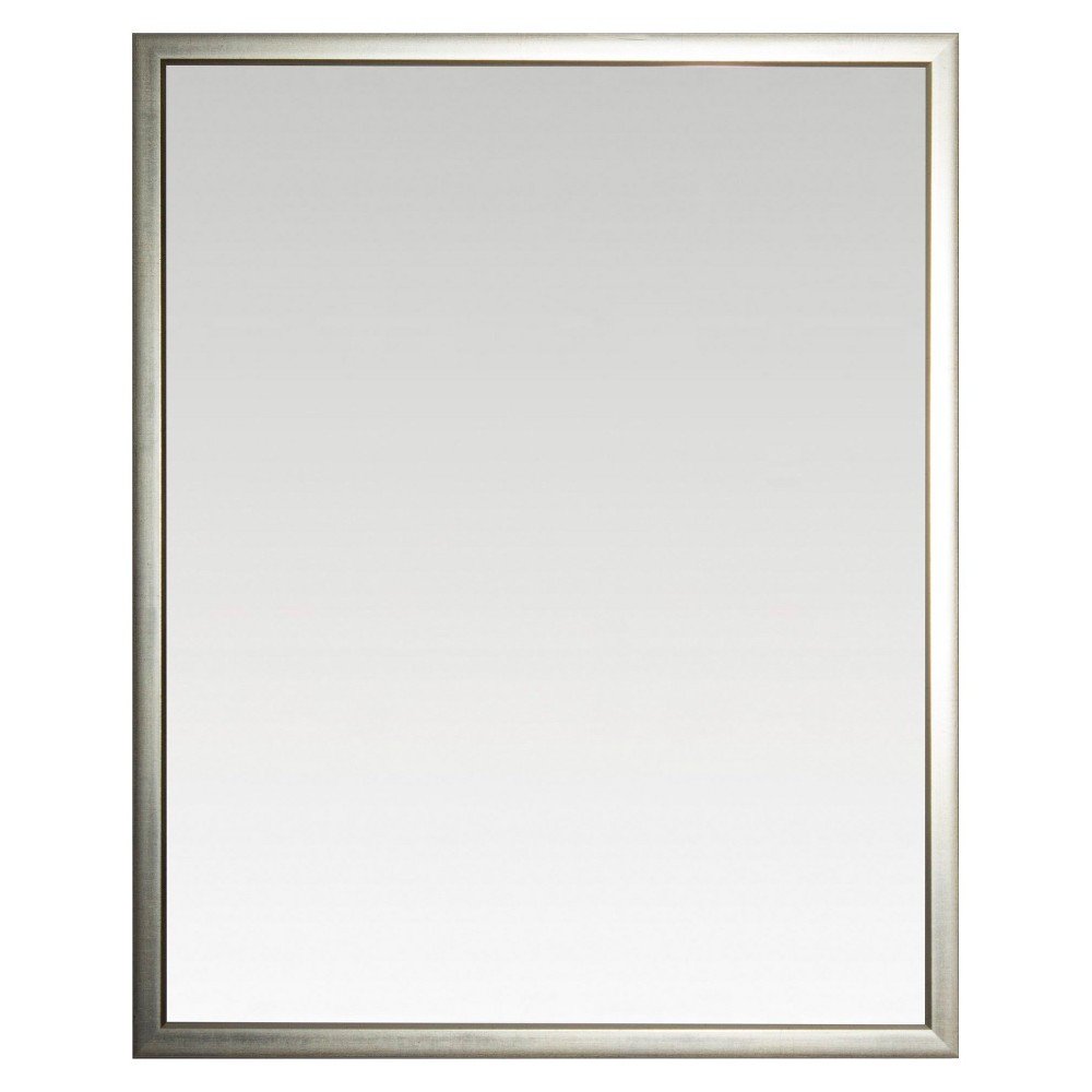"Image of ""28"""" x 34"""" Reflect Silver Framed Beveled Glass Wall Mirror - Alpine Art and Mirror"""