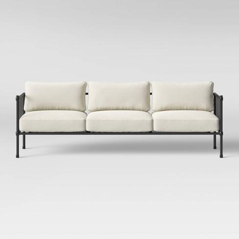 Fernhill Metal Patio Sofa Linen - Threshold™
