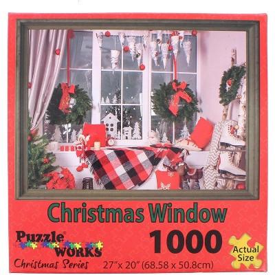 Puzzleworks Christmas Window 1000 Piece Jigsaw Puzzle