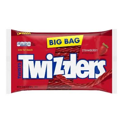 Twizzlers Twists Strawberry Licorice Candy Zipper Bag - 32oz