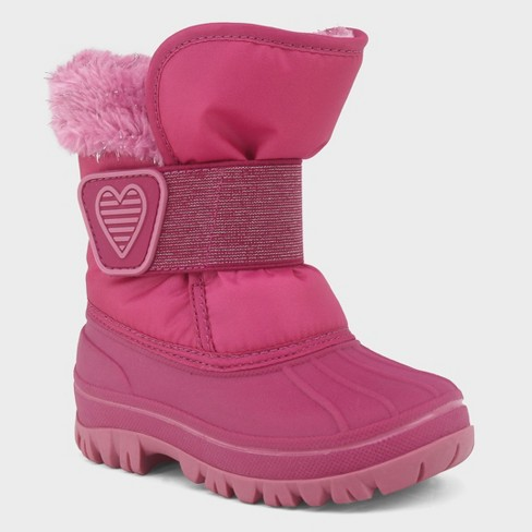 Toddler Girls' Charissa Glitter Faux Fur Winter Boots - Cat & Jack™ - image 1 of 3