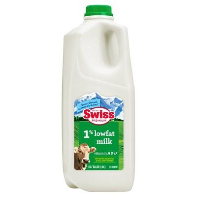 Swiss Premium 1% Lowfat Milk - 0.5gal