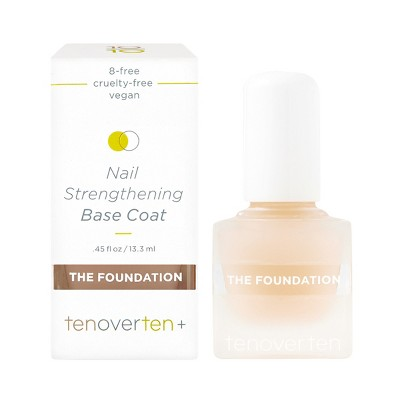 tenoverten The Foundation Nail Strengthening Base Coat - 0.45 fl oz