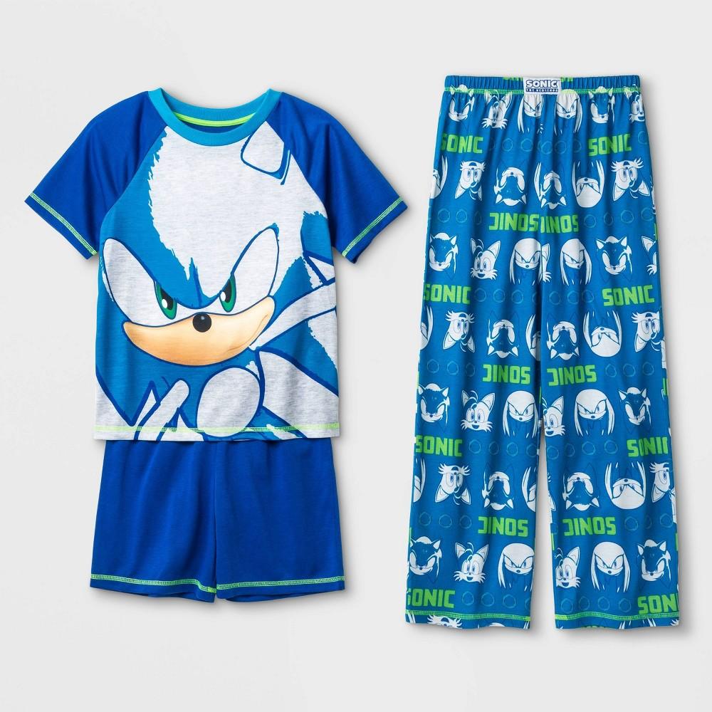 Image of Boys' Sonic 3pc Pajama Set - Blue L, Boy's, Size: Large