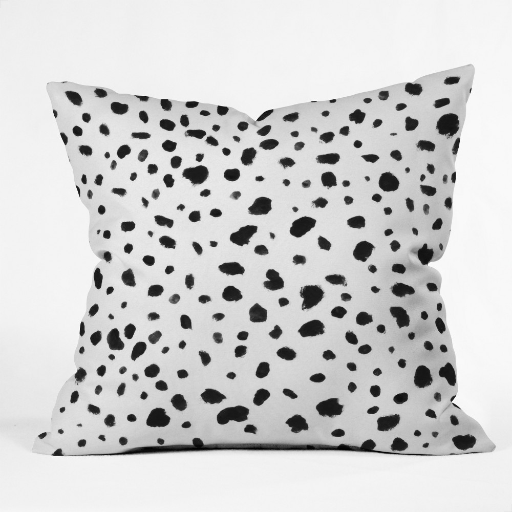 18 X18 Rebecca Allen Miss Monroes Dalmatian Throw Pillow Black Deny Designs