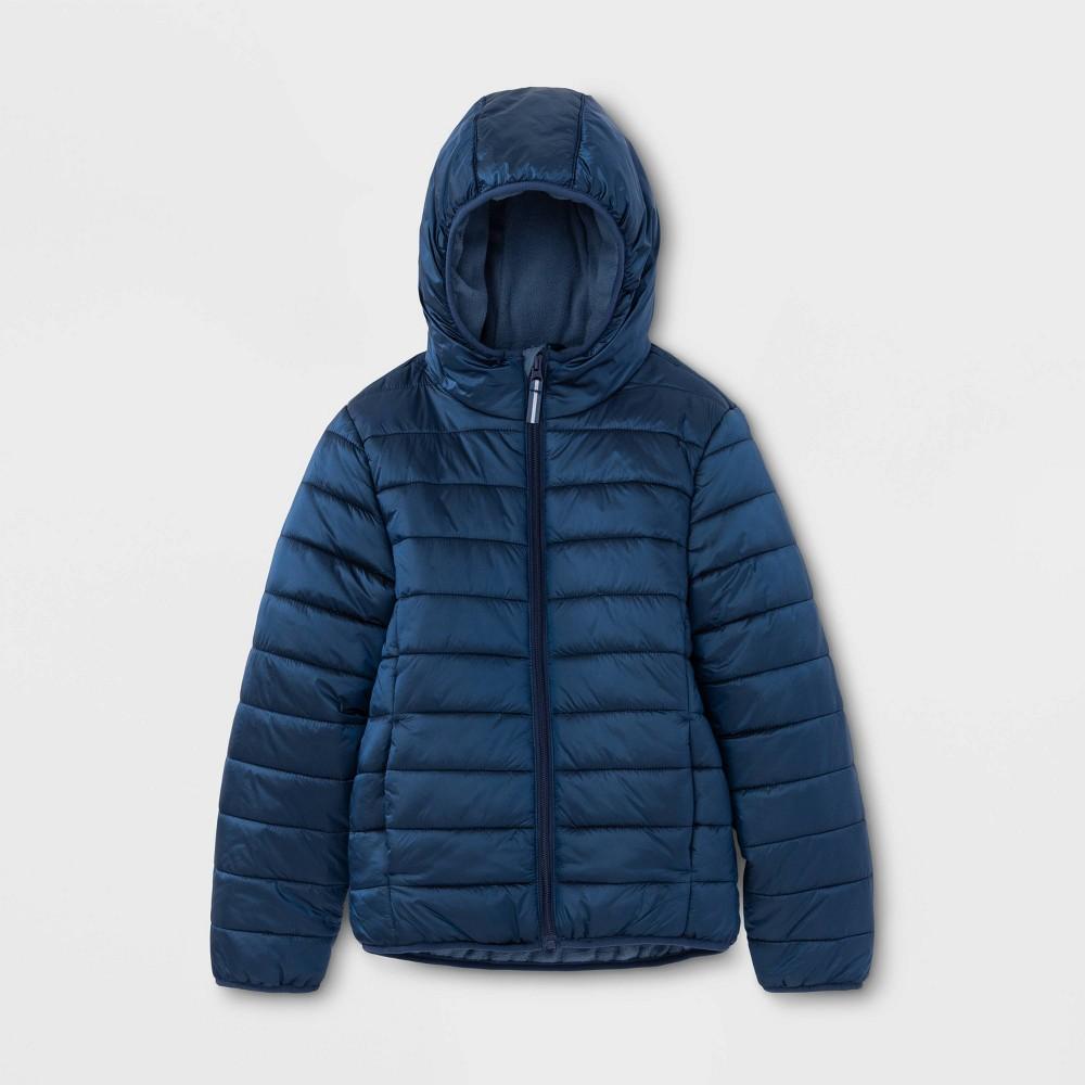 Kids' Lightweight Puffer Jacket - Cat & Jack Blue XS, Kids Unisex