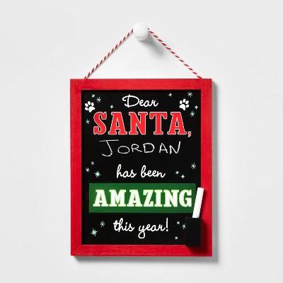 Dear Santa Hanging Sign with Chalk - Wondershop™
