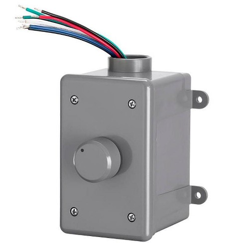 Monoprice OVC300 Rotary 300-Watt Outdoor Volume Control With Auto Impedance Matching, Weather Resistant Enclosure, For Outdoor Applications - image 1 of 4