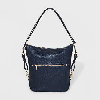 Everyday Essential Convertible Hobo Handbag - A New Day™ Navy
