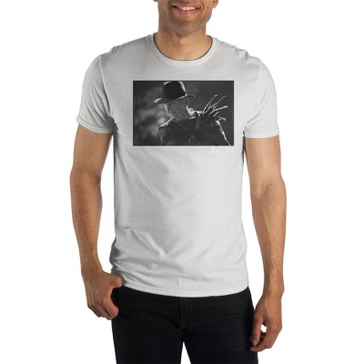 Freddy Kruger Classic Horror Movie Mens White Graphic Tee