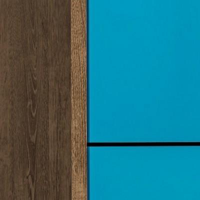 Brown/Aqua Blue
