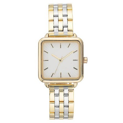 Women's Square Face Watch - A New Day™ Light Silver