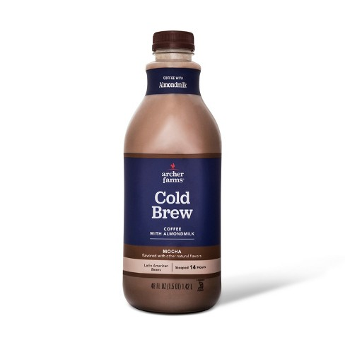Mocha Cold Brew Coffee with Almond Milk - 48 fl oz - Archer Farms™ - image 1 of 1
