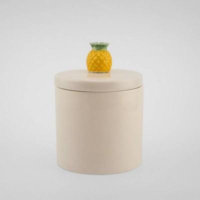 10oz Lidded Ceramic Jar Candle Paradise Pineapple - Opalhouse™
