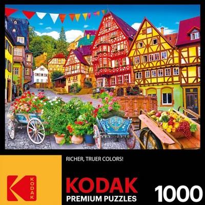 Kodak Colorful European Town Jigsaw Puzzle - 1000pc