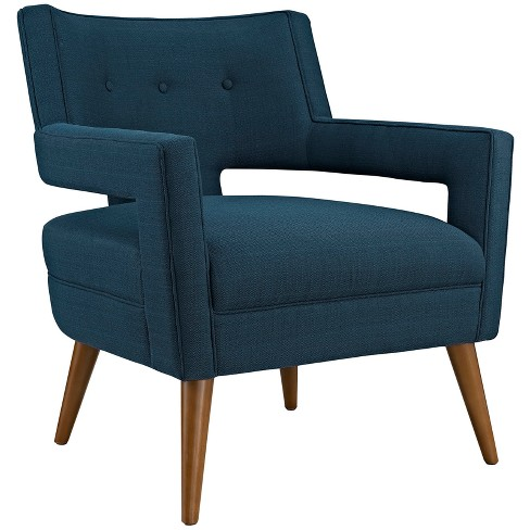 Sheer Upholstered Fabric Armchair - Modway - image 1 of 4