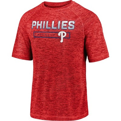 MLB Philadelphia Phillies Men's Short Sleeve Striated Athleisure T-Shirt