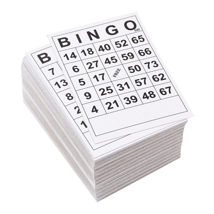 """Juvale 3 Set 60 Pack Bingo Cards, Black And White Paper Game Set And Activity For Family Nights, Charity Events, Parties, 180 Cards Total, 6"""" X 4"""" : Target"""