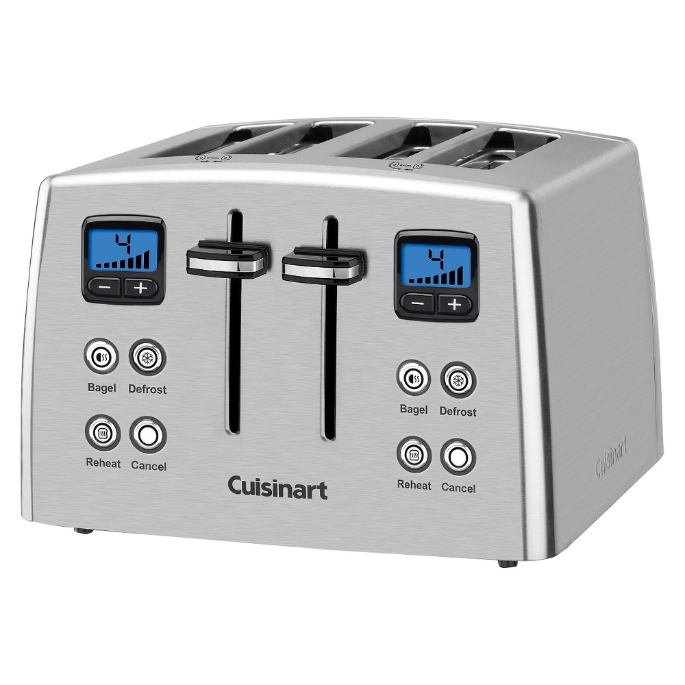 Cuisinart 4 Slice Compact Toaster – Stainless Steel Cpt-435, Grey 18817394