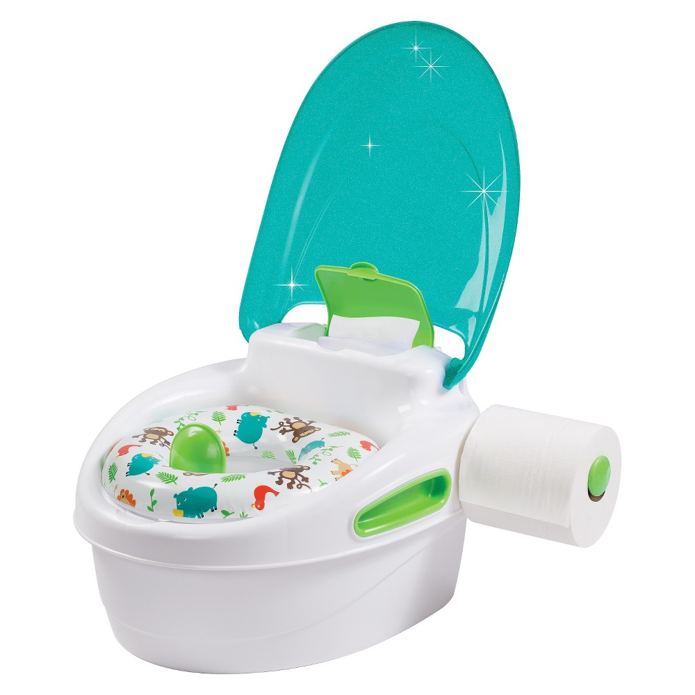 Image of Summer Infant 3 Stage Potty Trainer - White & Blue