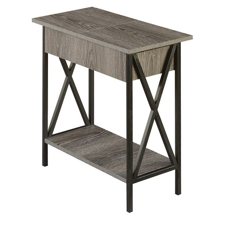 Tucson Electric Flip Top End Table - Weathered Gray - Johar Furniture - image 1 of 4