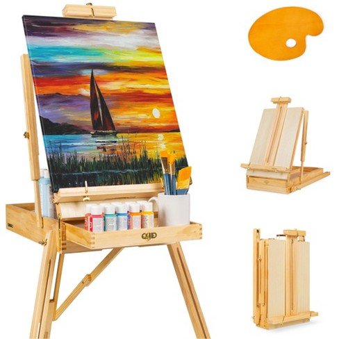 Best Choice Products Portable Wooden Folding French Easel Adjustable Sketch Box Tripod w/ Drawer, Pallet - image 1 of 4