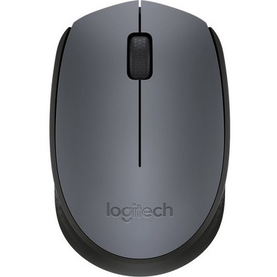 Logitech M170 Mouse - Optical - Wireless - Radio Frequency - Black - USB - Scroll Wheel - 2 Button(s) - Symmetrical
