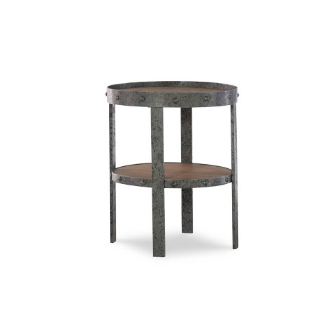 Barley Mixed Material Side Table Wood Metal Powell Company