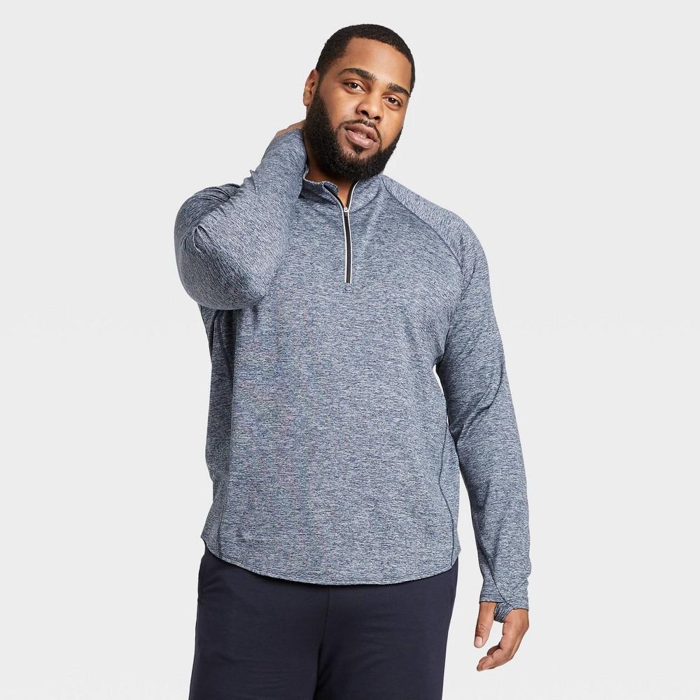 Men's Premium Layering Quarter Zip Pullover - All in Motion Navy XXL, Men's, Blue was $30.0 now $19.5 (35.0% off)