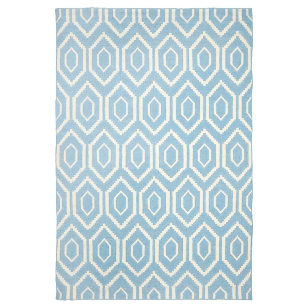 Cheap Taza Dhurry Rug - Blue Ivory - (6x9) - Safavieh