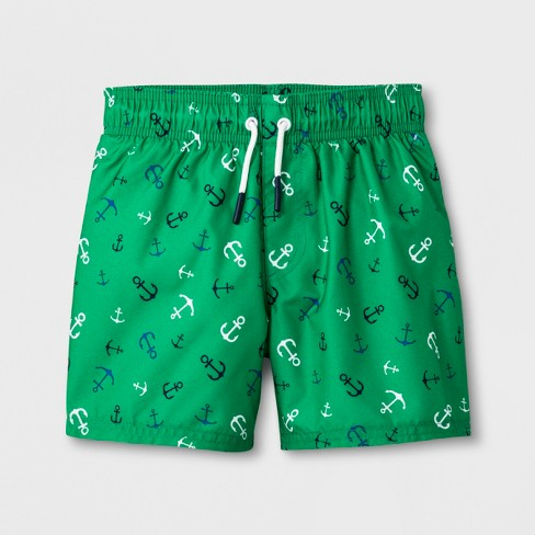 301ab6a121 Toddler Boys' Anchor Swim Trunks - Cat & Jack™ Green : Target