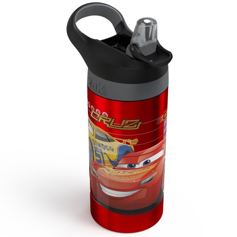 Disney Cars 19.5oz Stainless Steel Water Bottle Red/Black - image 1 of 3