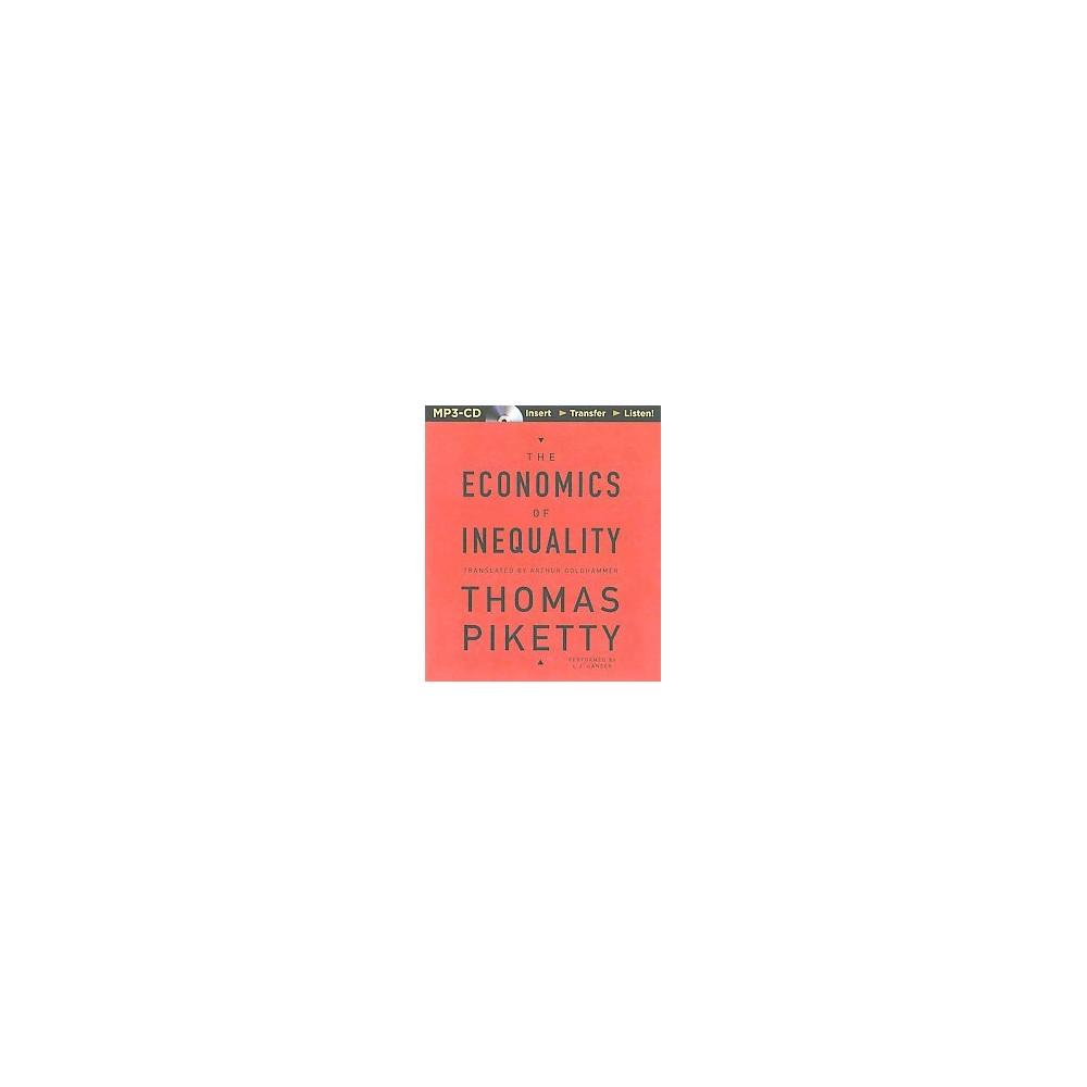 Economics of Inequality (Unabridged) (MP3-CD) (Thomas Piketty)
