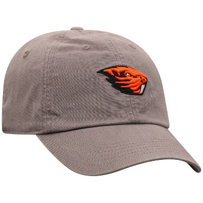 NCAA Oregon State Beavers Men's Gray Garment Washed Canvas Hat