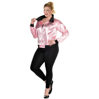 Adult Grease Pink Ladies Halloween Costume Jacket XXL/Plus
