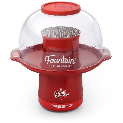 Presto Orville Redenbacher's Fountain Hot Air Popper, Red- 04868