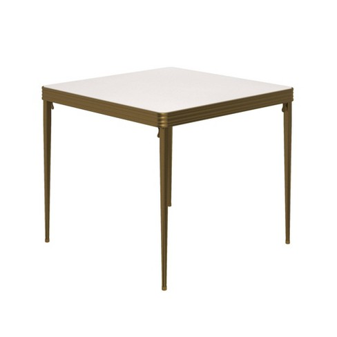 Cosco 32 Stylaire Square Vinyl Top Folding Table Gold