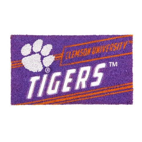 """NCAA Clemson Tigers Rubber Door Mat 14""""x 30.5"""" - image 1 of 1"""